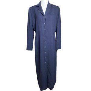 Ralph Lauren 100% wool lightweight academia long blazer coat